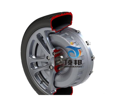 纯电动车轮毂电机解剖模型